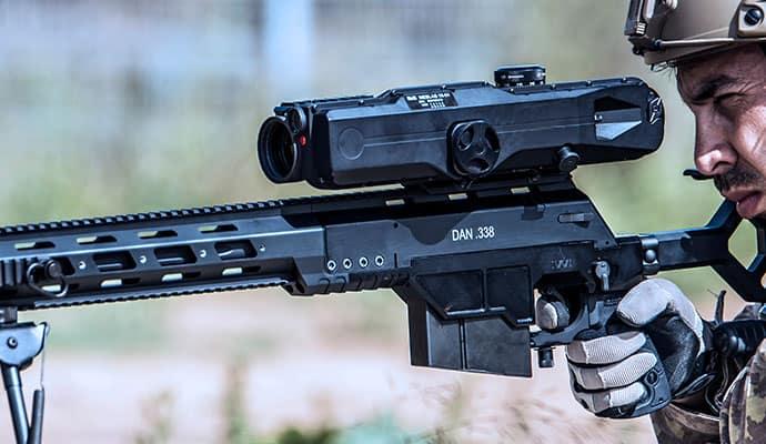 soldier shooting a dan.338 rifle