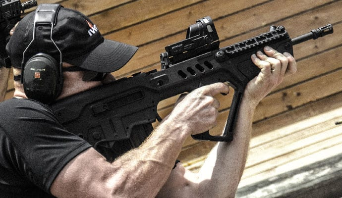 shooter with tavor