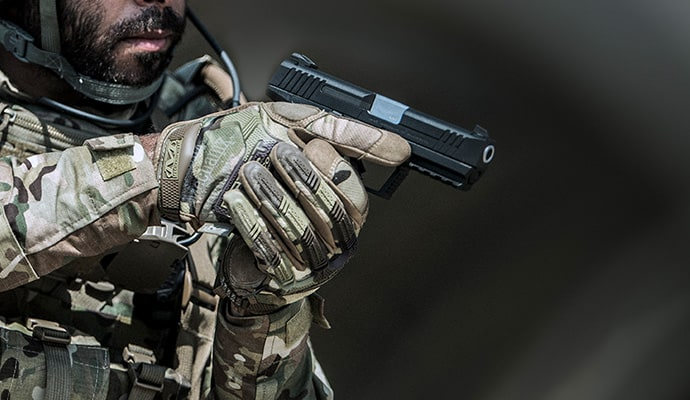 Soldier shooting masada striker