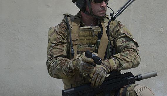Soldier with Masada Pistol